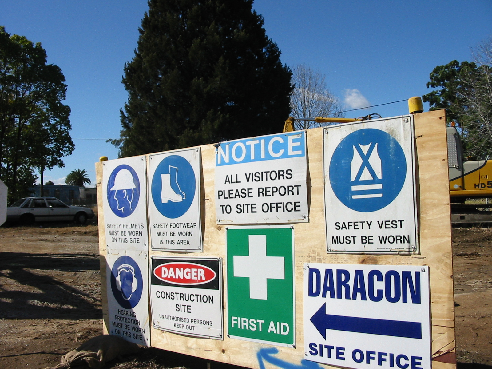 Construction site safety notices