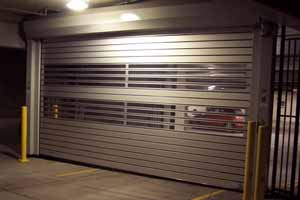 Hollow metal garage doors