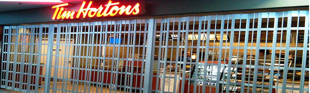 Example security gate for a Tim Hortons