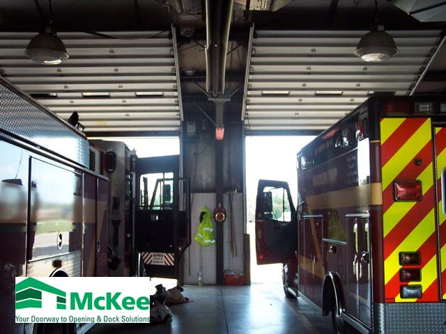 Industrial garage doors for fire stations in grove city