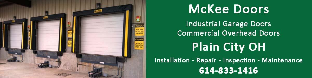 McKee Doors: Commercial overhead doors and industrial garage doors in Plain City Ohio